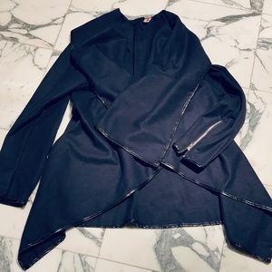 Women's Oversized Collar Wrap Coat Sz M